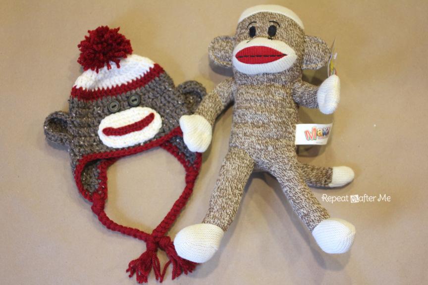 Crochet Sock Monkey Hat Pattern - Repeat Crafter Me