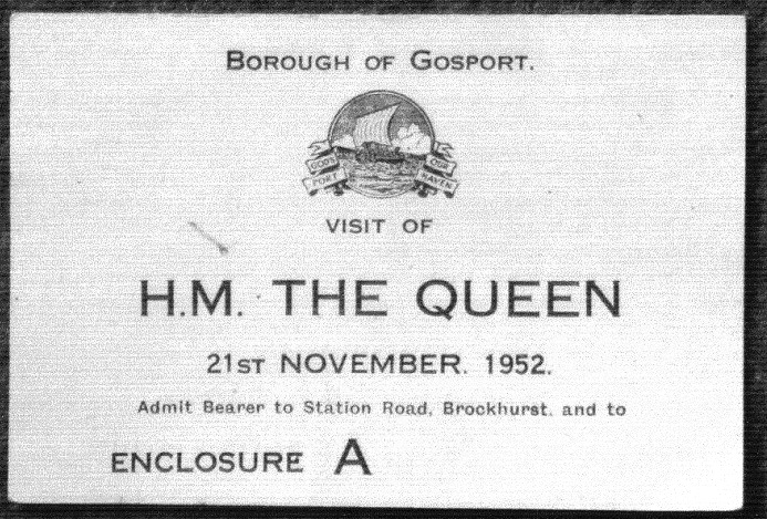 Ticket for Royal VisitFort Brockhurst