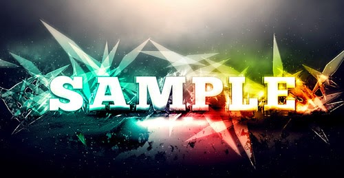 Awesome Abstract Text Effect with Brush Dynamics and Filters