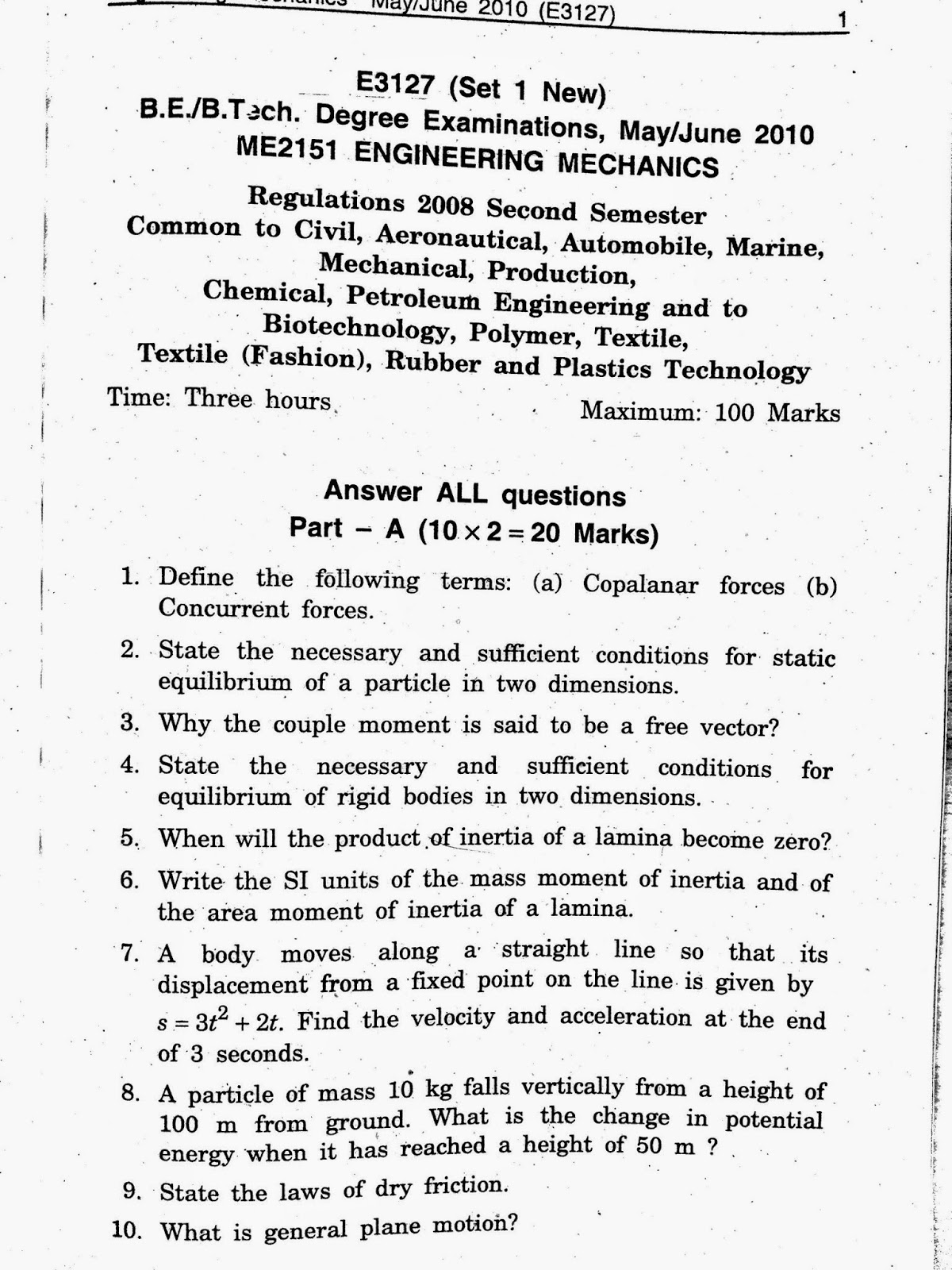 question paper mg 2452 engineering Ktunow notes, news, results, question papers these are high quality sample question papers, by mg electronics & electrical engineering / model question.
