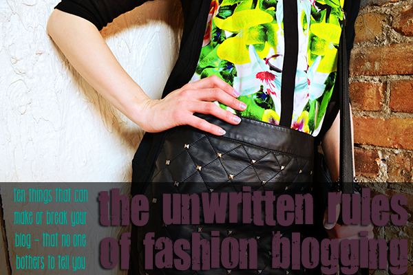 The Unwritten Rules of Fashion Blogging