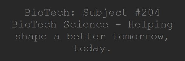 BioTech: Subject #204