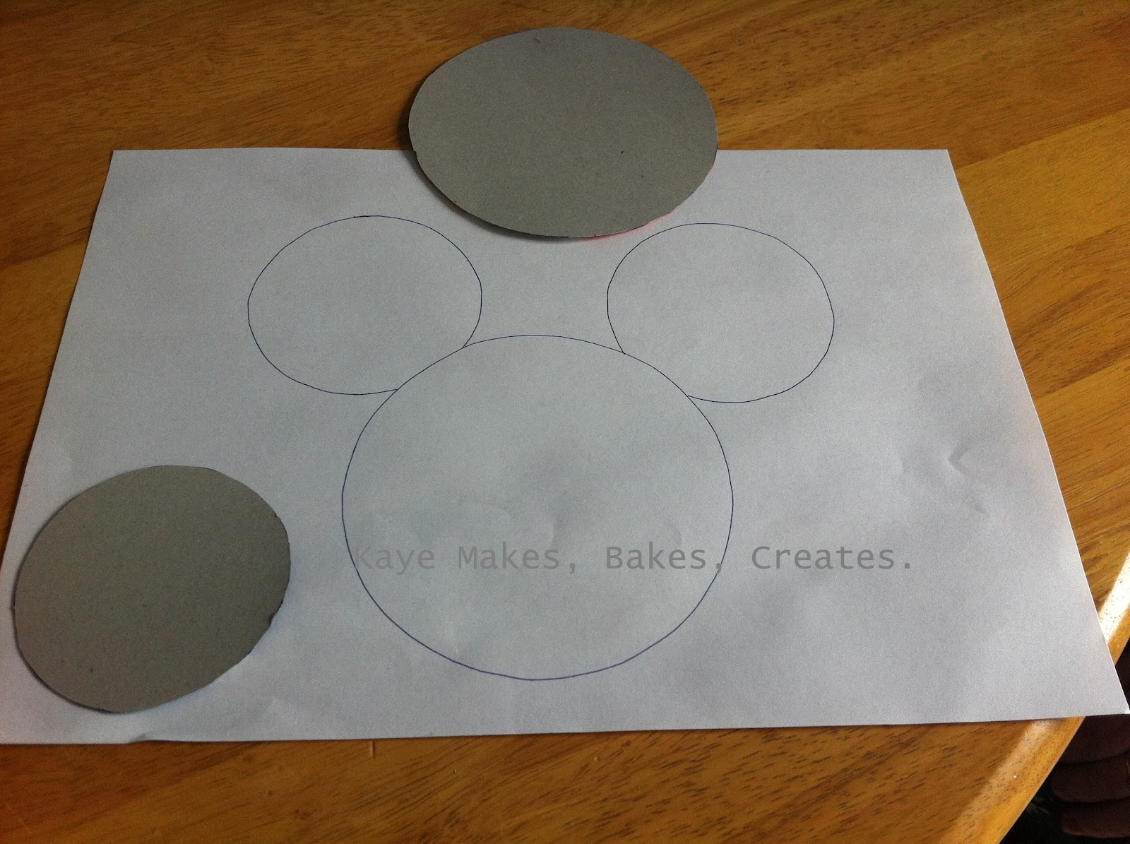 Mickey Mouse Cut Out Template And cut out the circles.