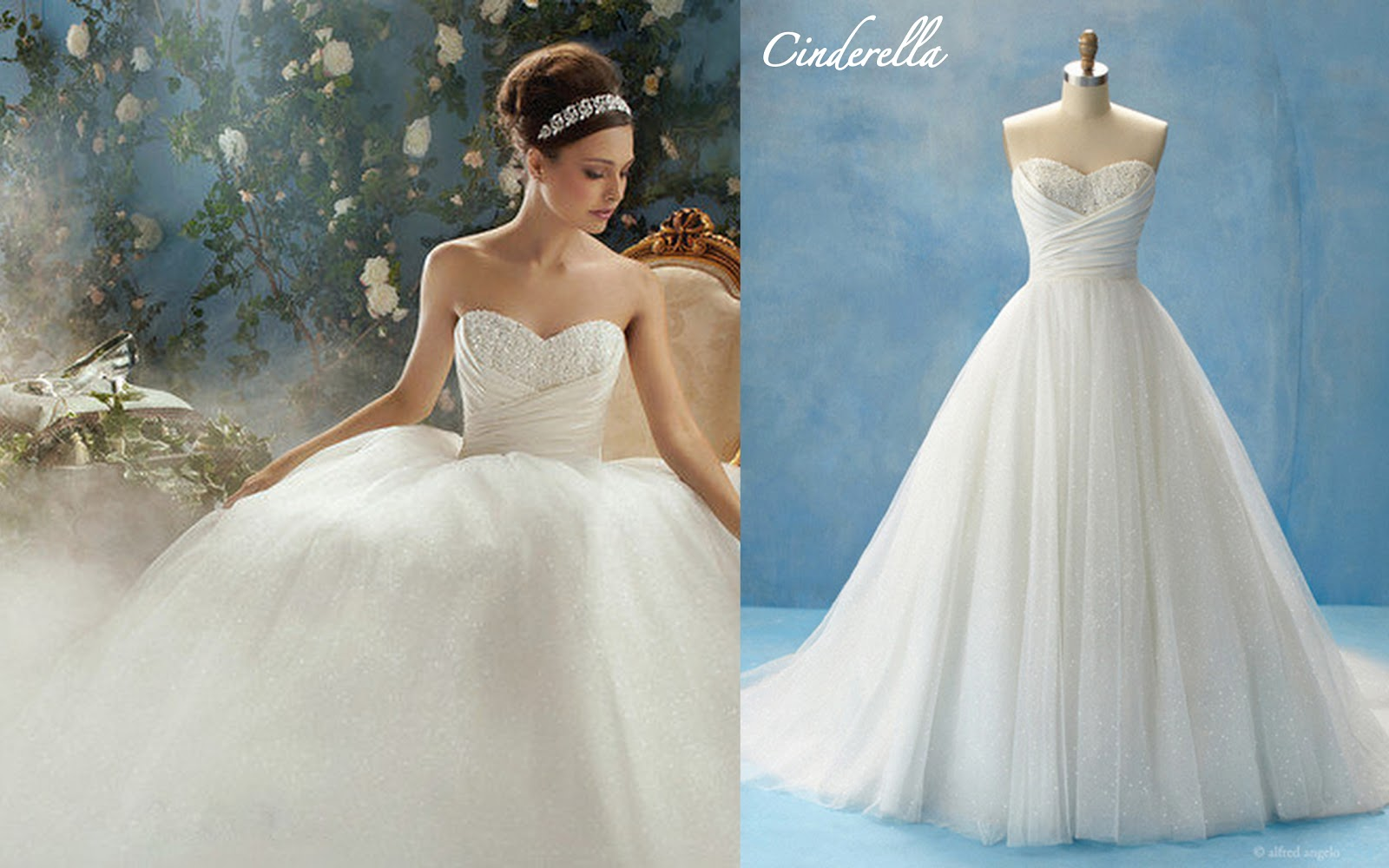 Frills and thrills fairy tale wedding gowns by alfred angelo for Wedding dress disney collection