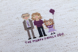 Mini Us, A Cross-Stitch Pixelated Family Portrait (with Typo) | The Inspired Wren