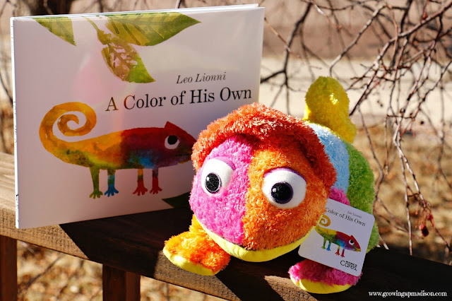 a color of his own book and chameleon soft toy - A Color Of His Own Book