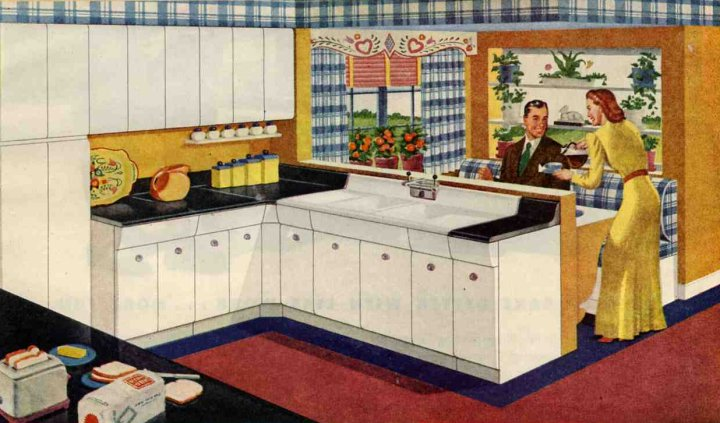 Chameleon Eve: Our fifties kitchen!