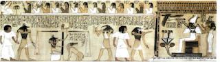 Papiro con escena del mas alla. Religion Egipcia. El mas alla para los egipcios. Egipto a tus pies. Dioses de egipto