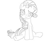 #14 Rarity Coloring Page