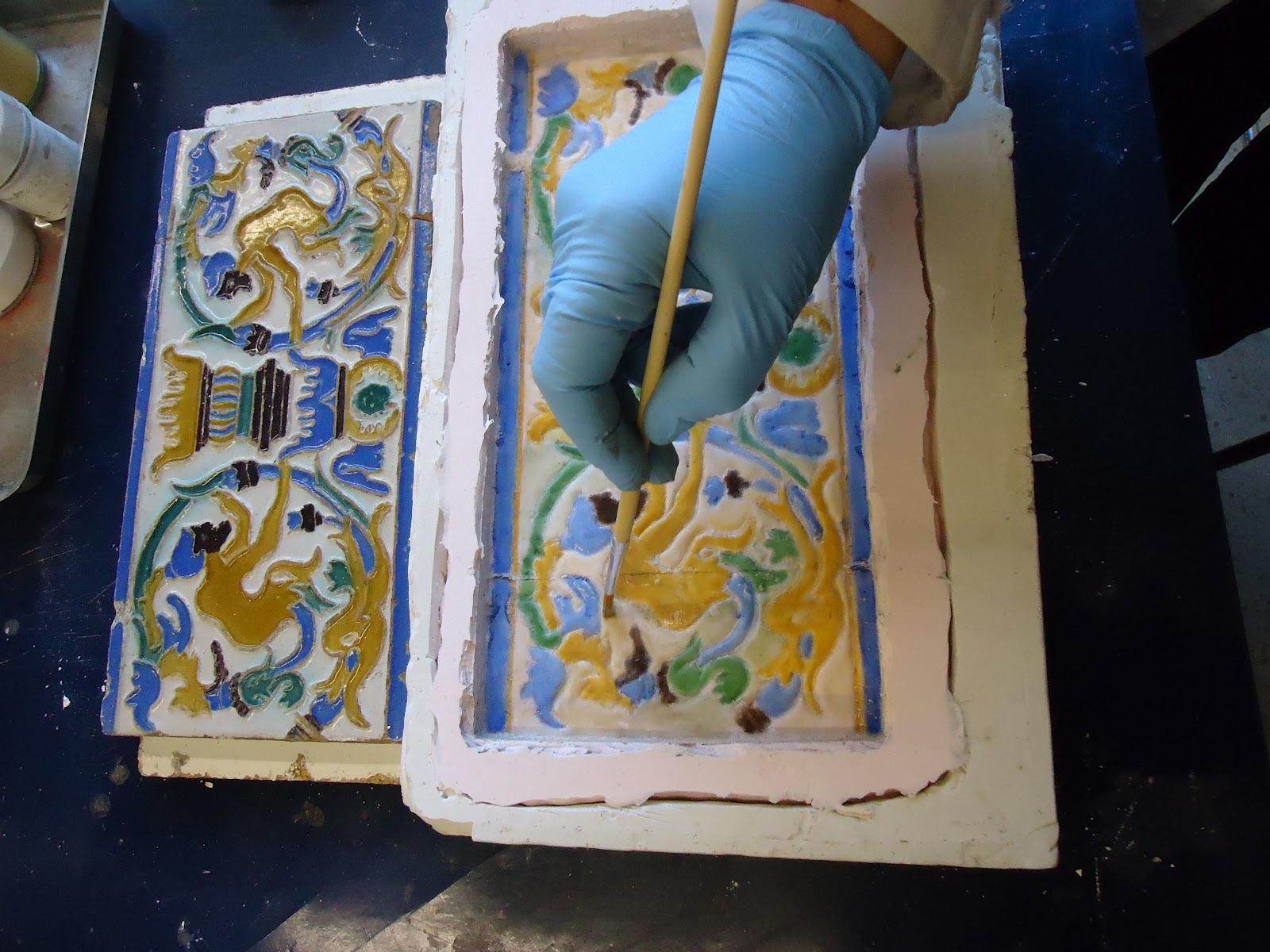 Museu virtual uma conex o cultural azulejos de tomar - Copia de azulejos ...