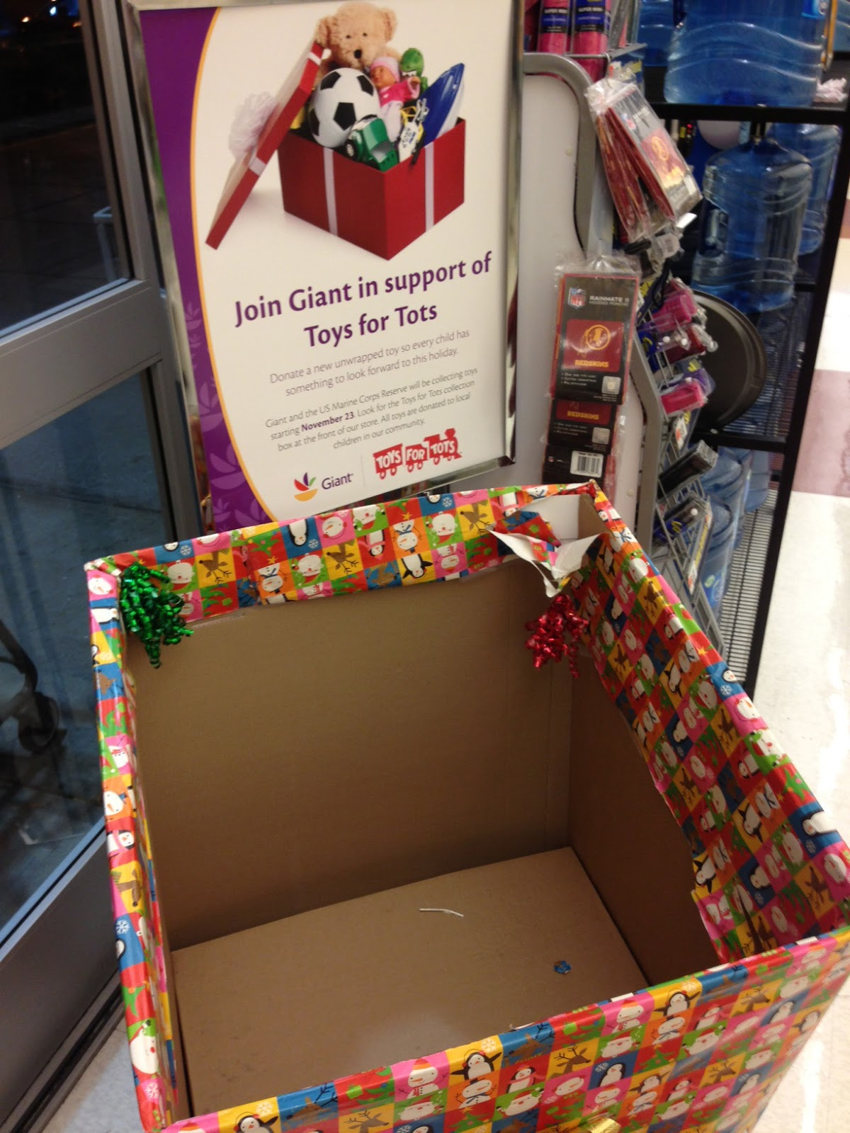 Toys For Tots Is Underway At Giant But Their Box Empty Let S Help