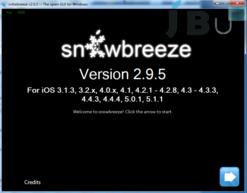 Snowbreeze 2.9.5 to jailbreak iPhone 4 on iOS 5.1.1 9B208