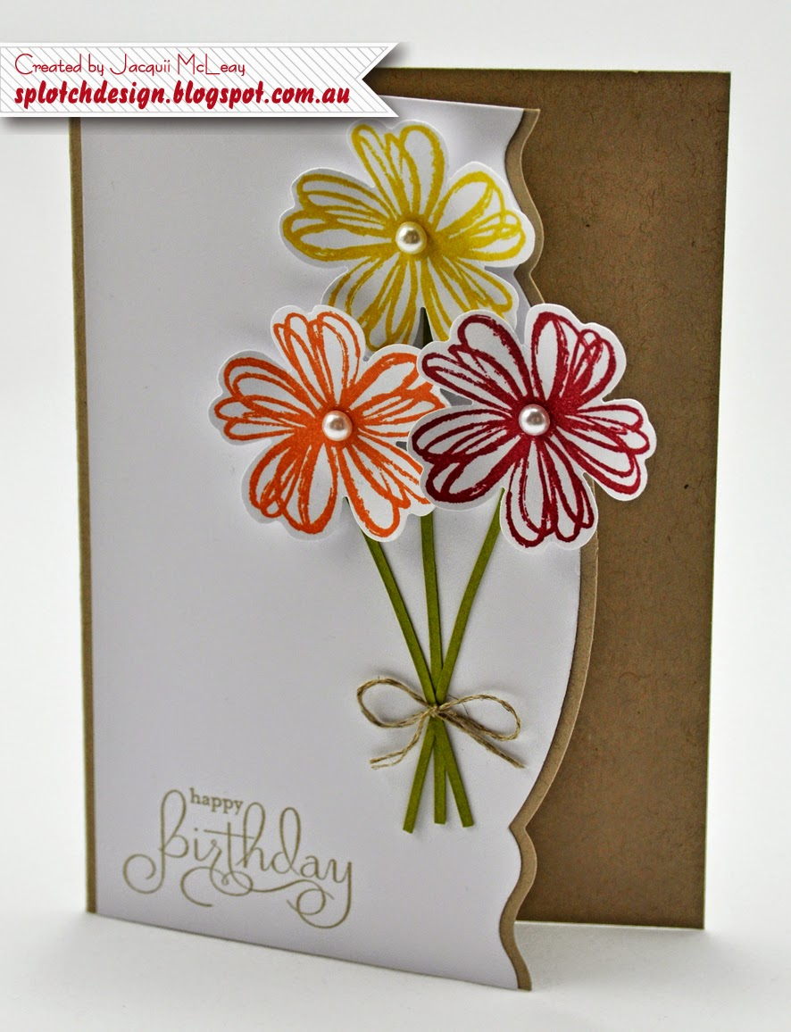 Splotch design independent stampin up demonstrator 2014 below is my version of the single stemmed flowers found on page 95 of the 2013 14 annual catalogue and a simple birthday card using the stamp set kristyandbryce Gallery