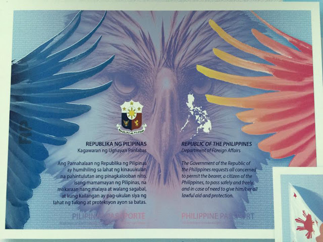 PH new e-passport first two pages