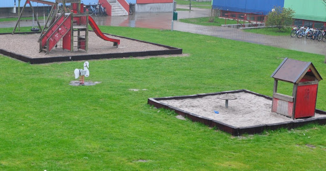 regnvåd legeplads