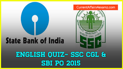 English Quiz for SSC and SBI PO 2015