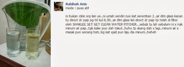 Set Get Clean Water Shaklee elok untuk Kesihatan Buah Pinggang