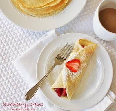 crepes, strawberry, recipe, brunch
