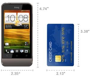 Dimensi HTC One V