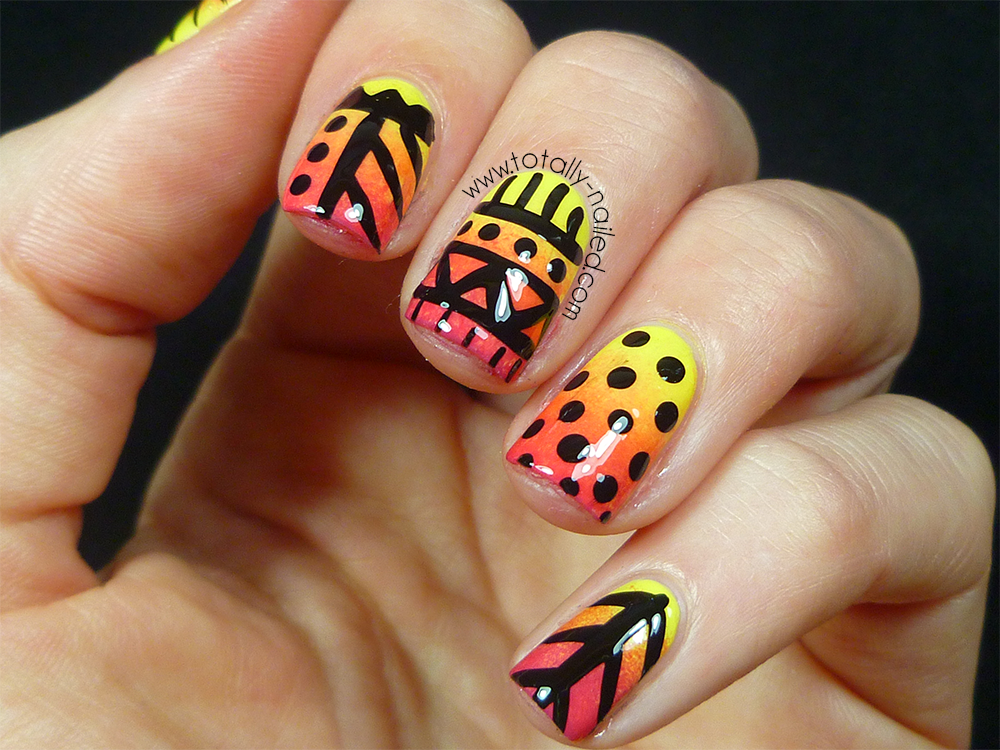 Summer Tribal Nail Art | Totally Nailed