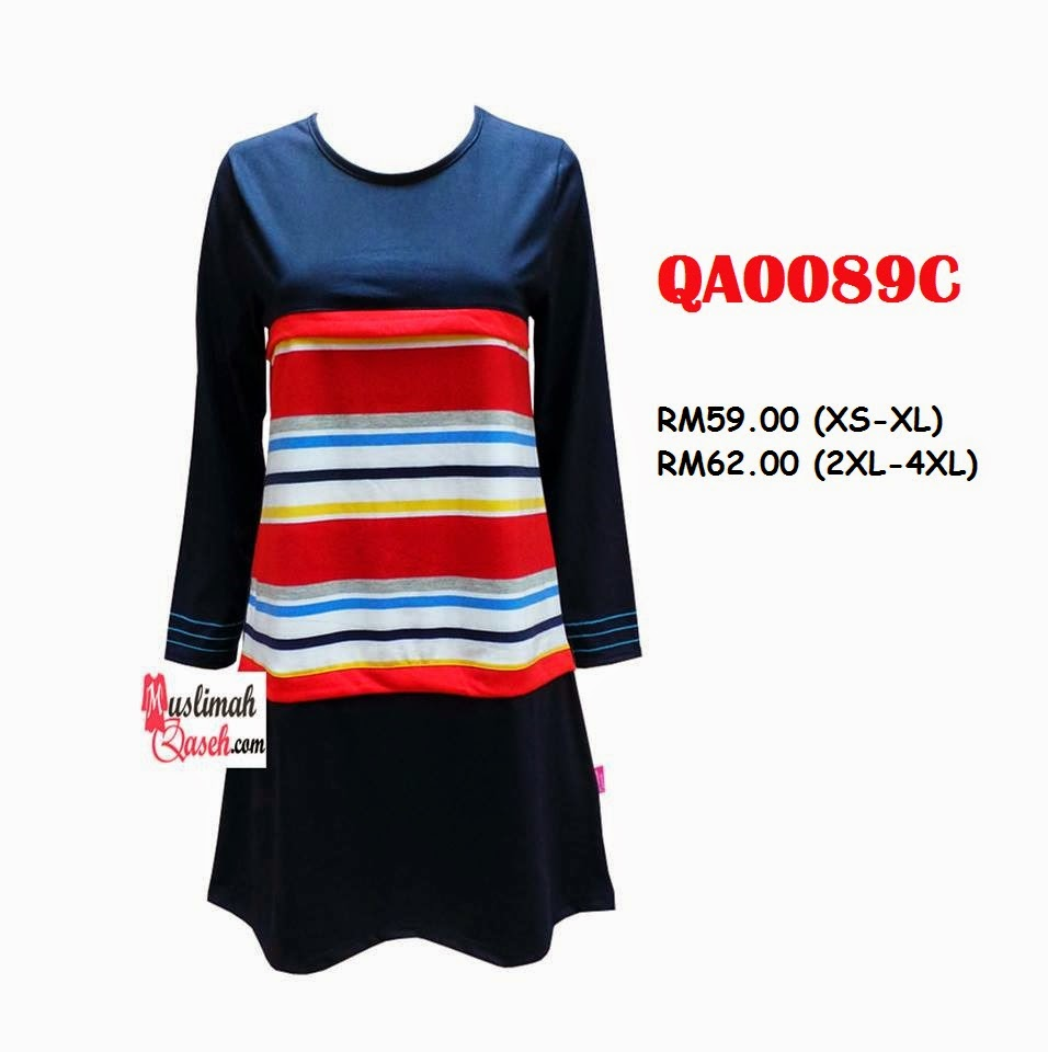 T-Shirt-Muslimah-Qaseh-QA0089C