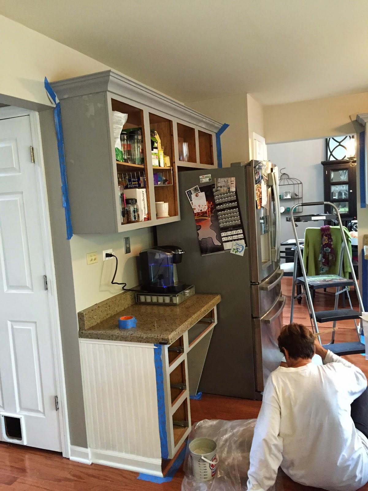 DIY Chalk Paint Kitchen Cabinets