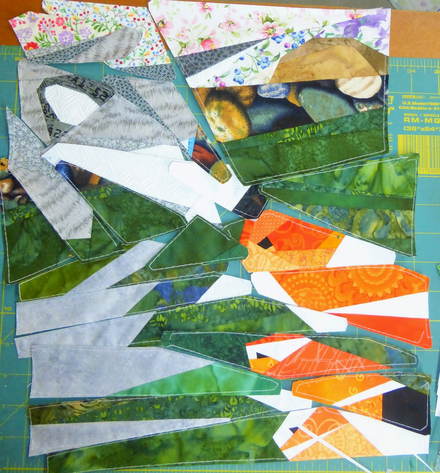 Qreative quilts koi pond for Koi pond quilt pattern
