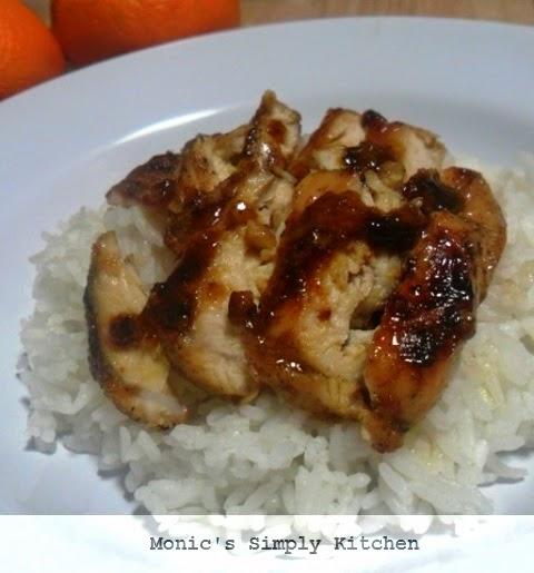 membuat orange chicken