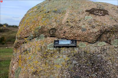 Измерение радиационного фона Чертова камня