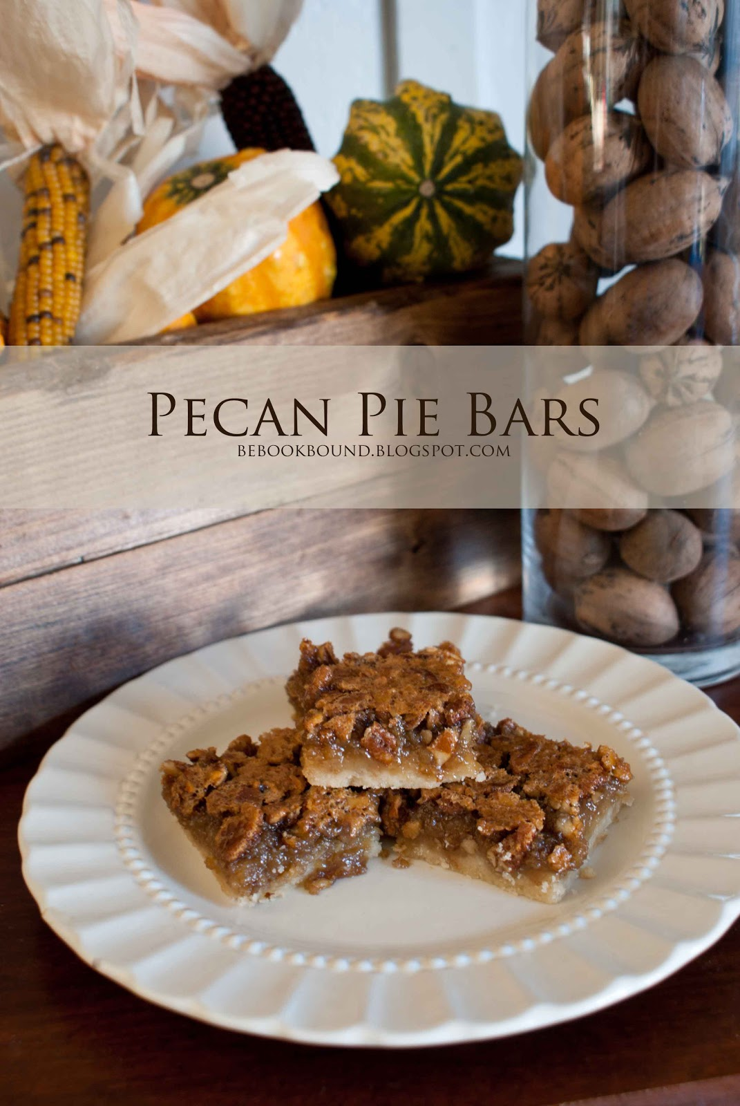 Be Book Bound: Edgar Allan Poe October: Pecan Pie Bars