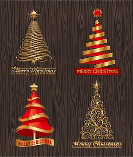 クリエイティブなクリスマス ツリーのイラスト creative christmas trees vector イラスト素材