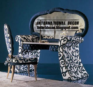 modern black and white dressing table with chair, buy dressing table