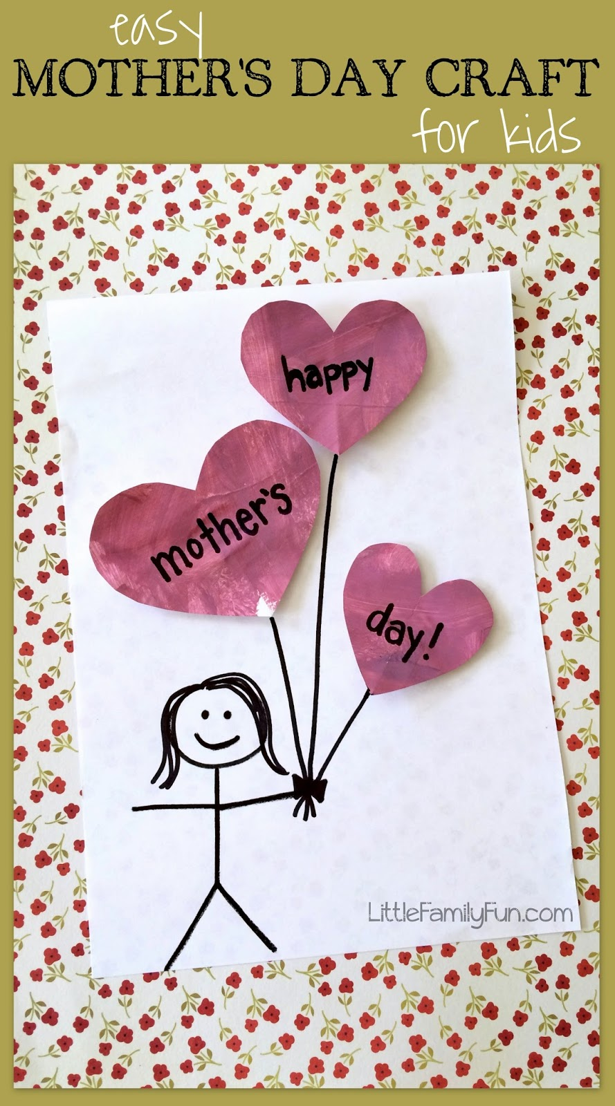 Little family fun mother 39 s day balloon craft for kids for Mother s day crafts for kindergarten