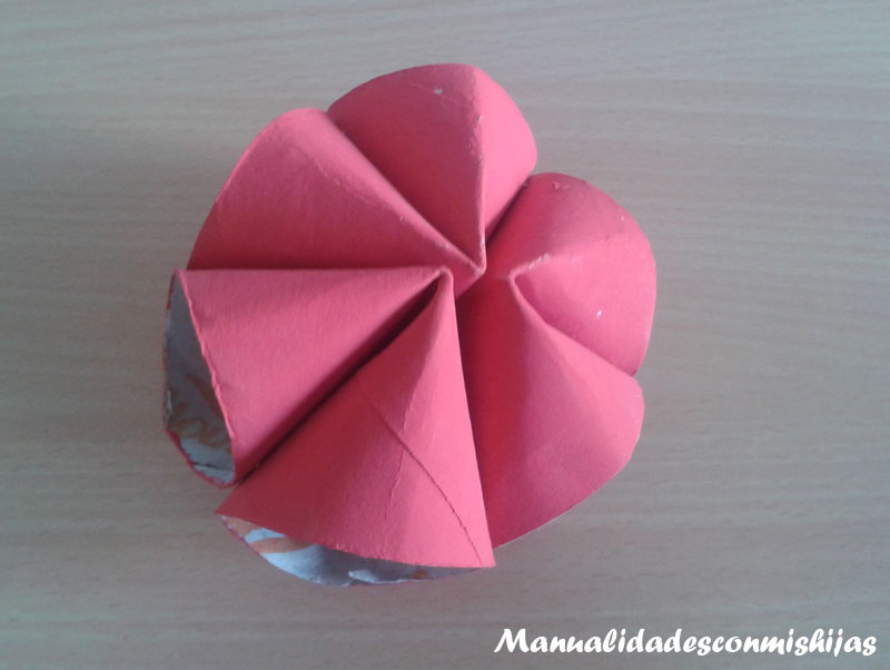Flores con tubos de cartón - proceso