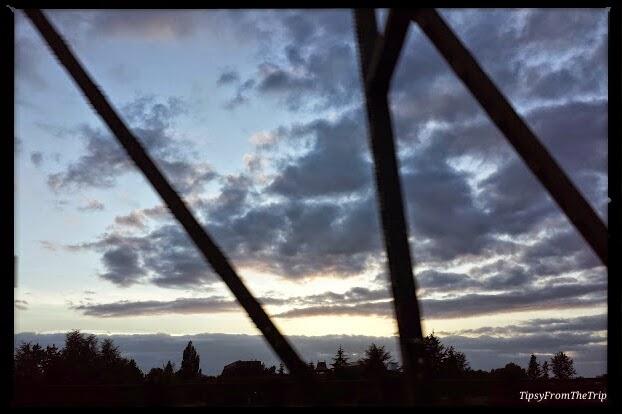 Sunset, Interstate bridge, Columbia River