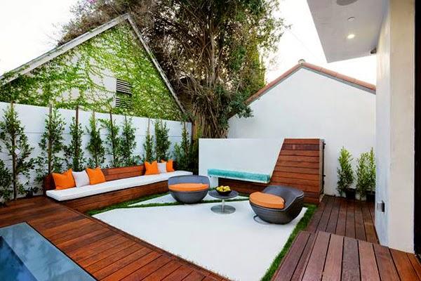 Casas minimalistas y modernas patios modernos modern for Patios minimalistas modernos