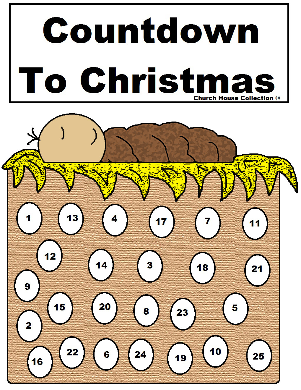 Church House Collection Blog: Baby Jesus Advent Calendar For Christmas