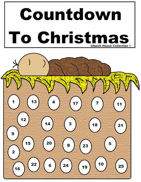 Jesus Christmas Countdown Calendar Printable
