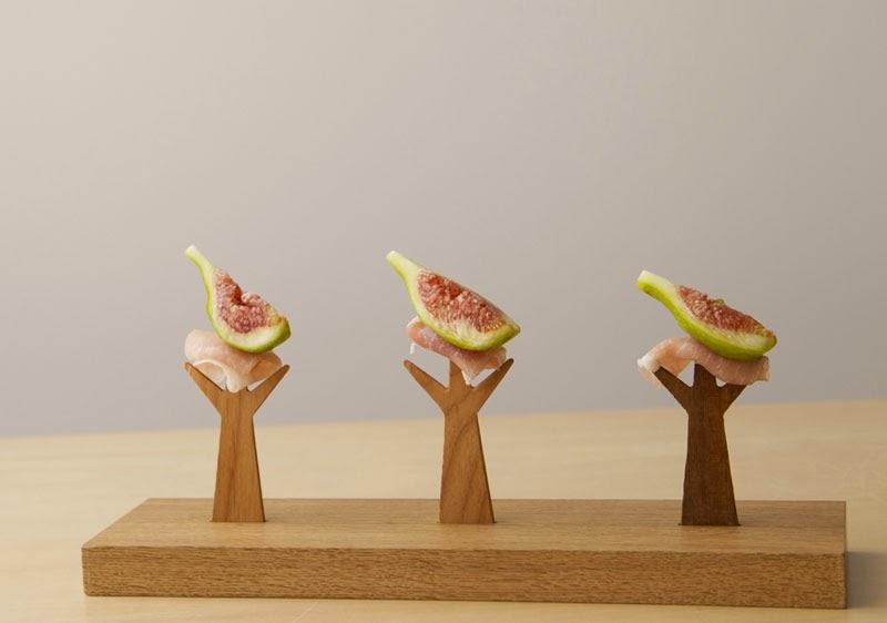 Tenedores de madera Moku Mogu Moku no Fōku