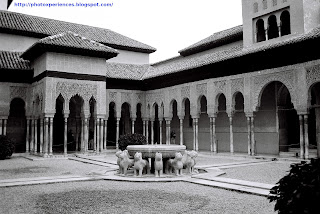 Patio de los Leones. Court of the Lions. Alhambra. Granada. Spain.