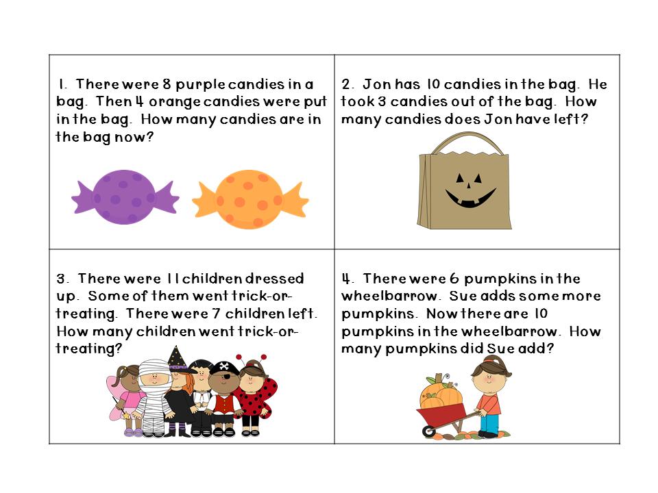 Middle School Math Halloween Word Problems word problems – Halloween Math Word Problems Worksheets