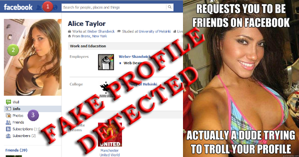 How to identify a fake facebook profile