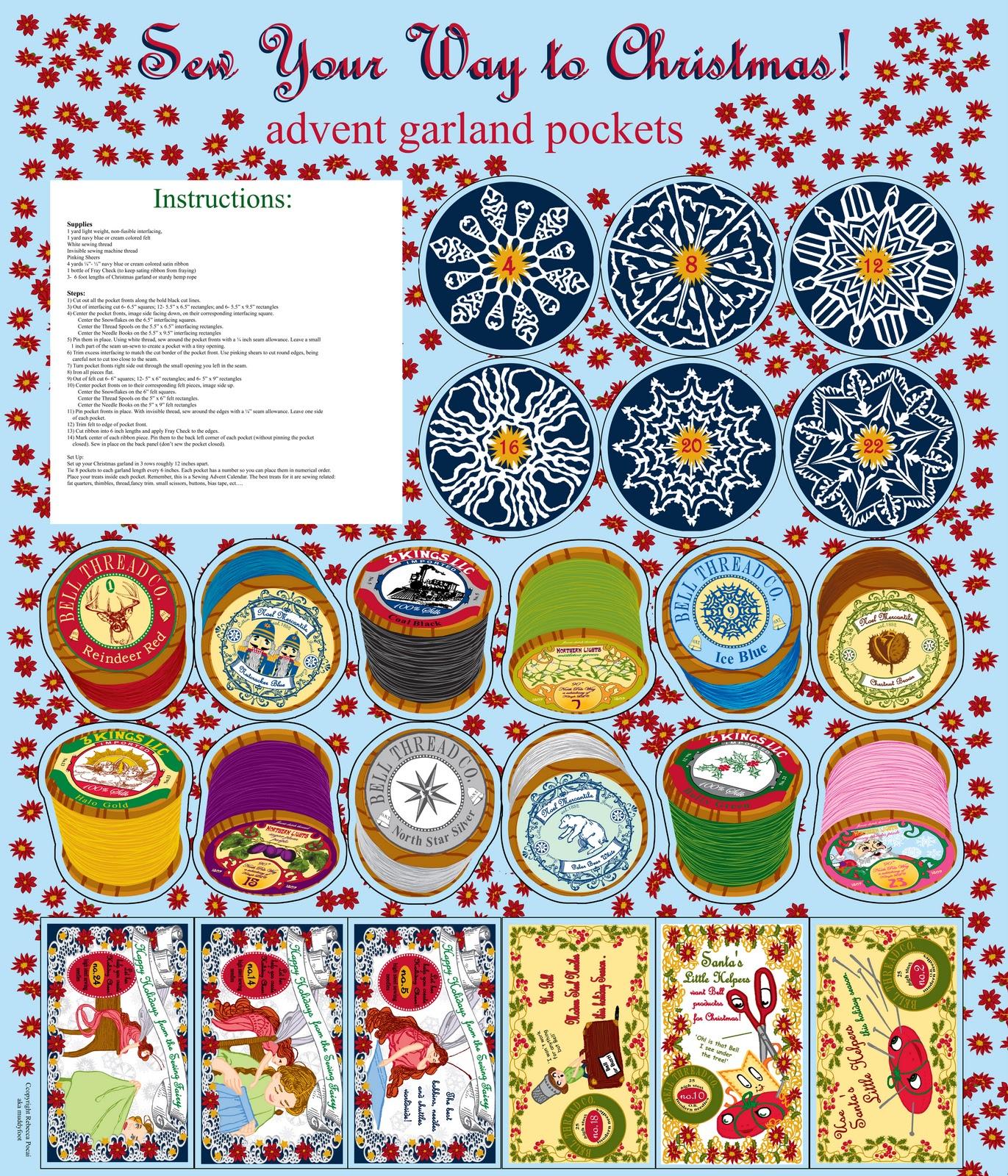 Art Advent Calendar : Muddyfoot s art craft and other dirt spoonflower advent
