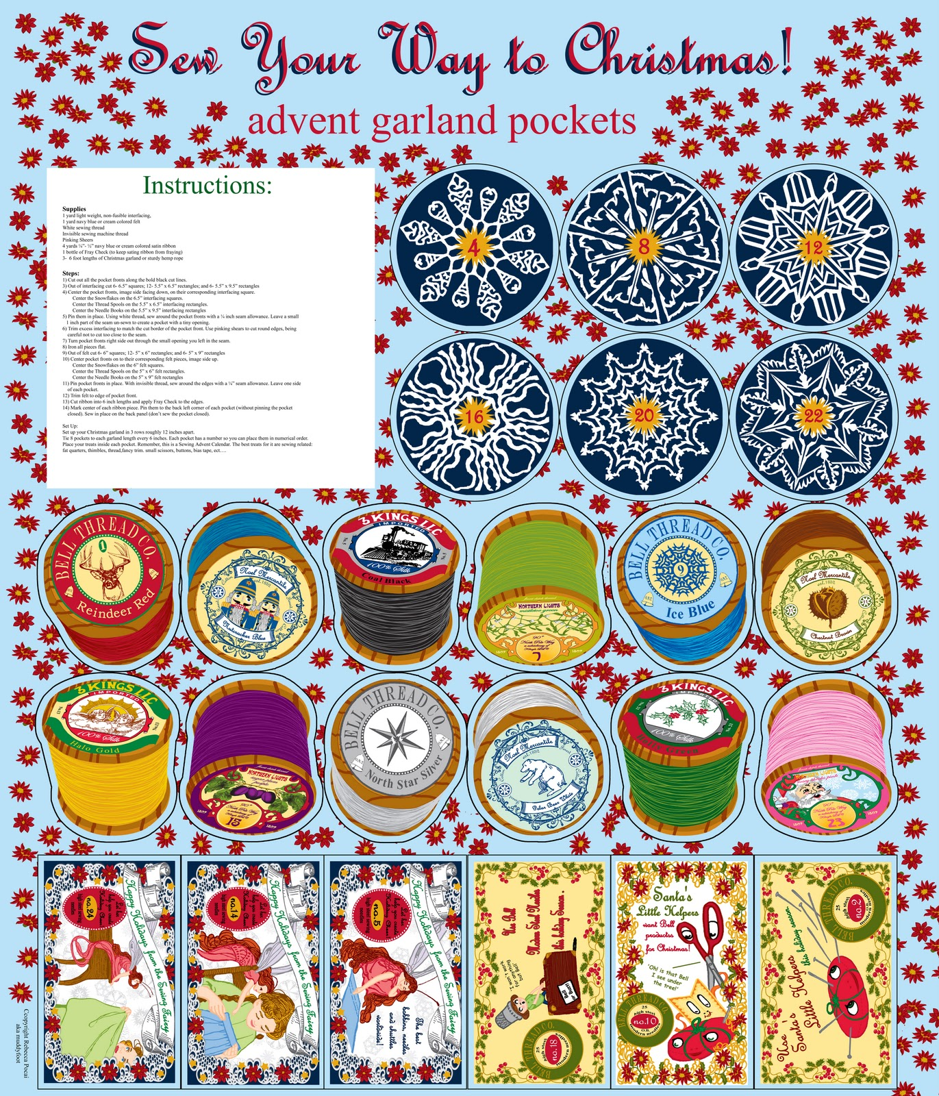 Calendar Art Competition : Muddyfoot s art craft and other dirt spoonflower advent