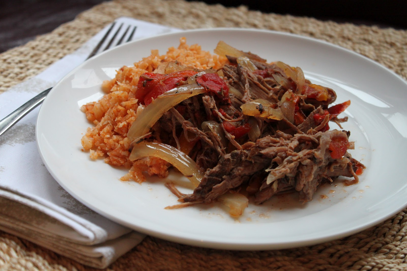 "River North Paleo Girl: Slow Cooker Paleo Ropa Vieja with Cuban ""Rice"""