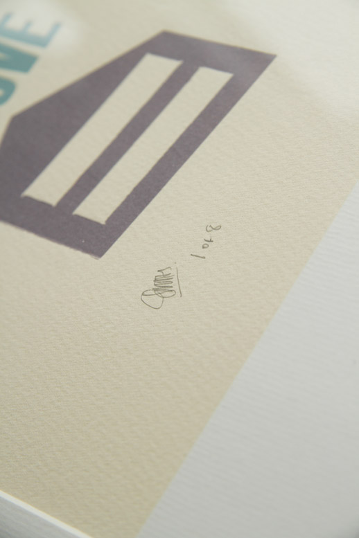oneafternine | Letterpress print | I love you more than I love cake