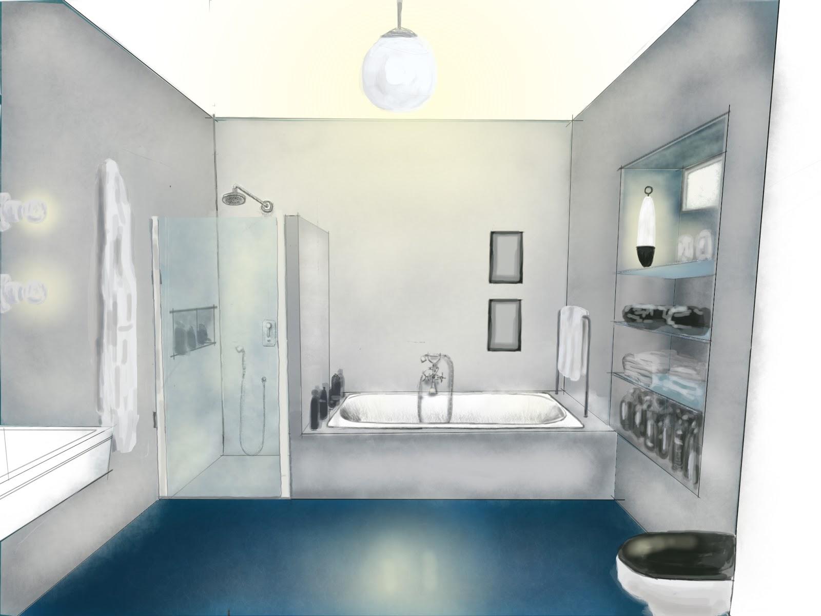 Bagno Legno E Grigio : Bagno grigio blu alinskij