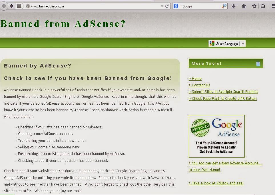 Google Adsense, banned adsense,