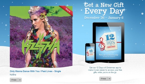 iTunes 12 Days of Christmas day 8