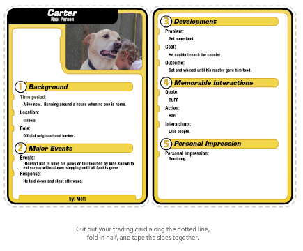 Trading Card Template Free. paperback writer character cards ...